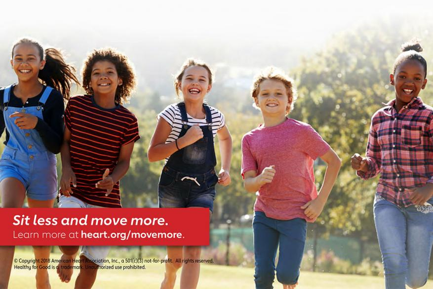 American Heart Association Recommendations for Physical Activity in Kids Infographic